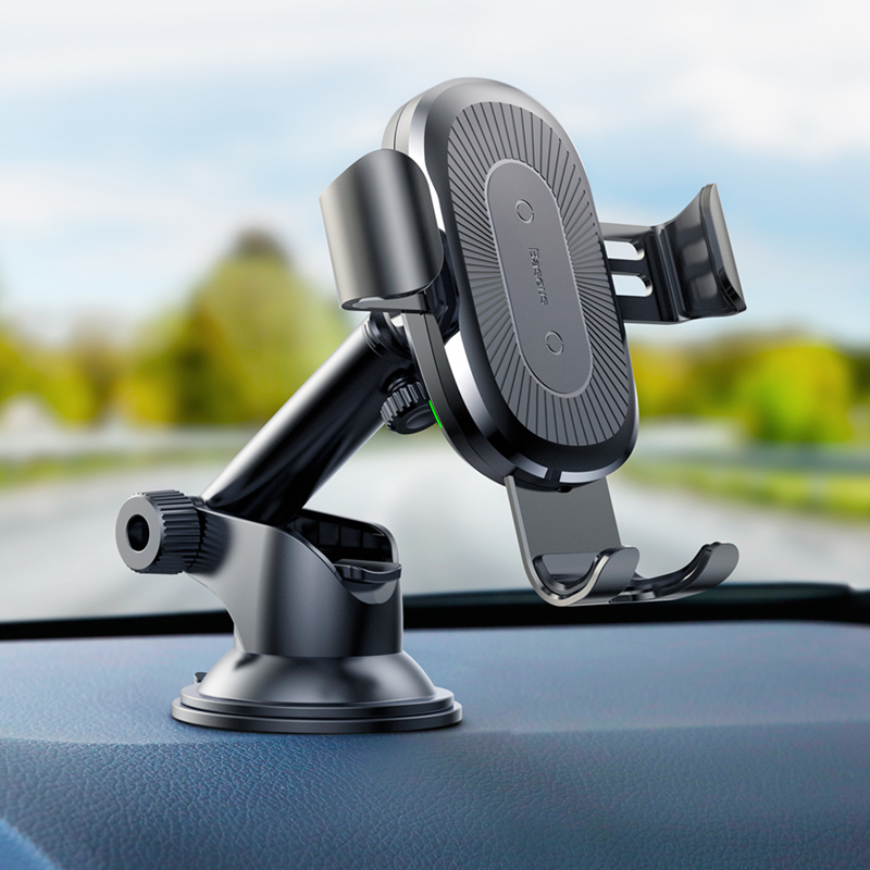 <font><b>Baseus</b></font> 2 in 1 Wireless <font><b>Car</b></font> <font><b>Charger</b></font> Charging Holder Stand For Samsung S9 Note 9 Phone image