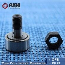 KR19, seguidores de leva CF8, rodamiento de 8mm, 2 uds, rodillos de oruga tipo perno KRV19 CF8B NAKD19 KR19PP/UU, rodamientos CF-8
