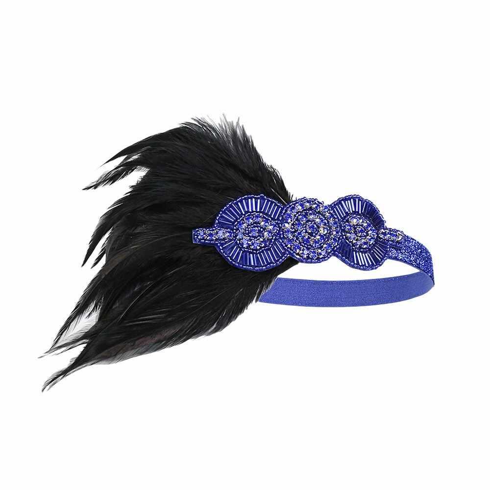2019 mode Neue Persönlichkeit artikel Feine headwear Kopfschmuck Feder Flapper Stirnband Great Gatsby Kopfschmuck Vintage