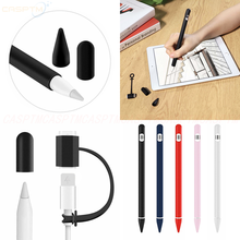 For Apple Pencil 1 4 in 1 Silicone Accessories Soft Sleeve Cap Tip Cover For