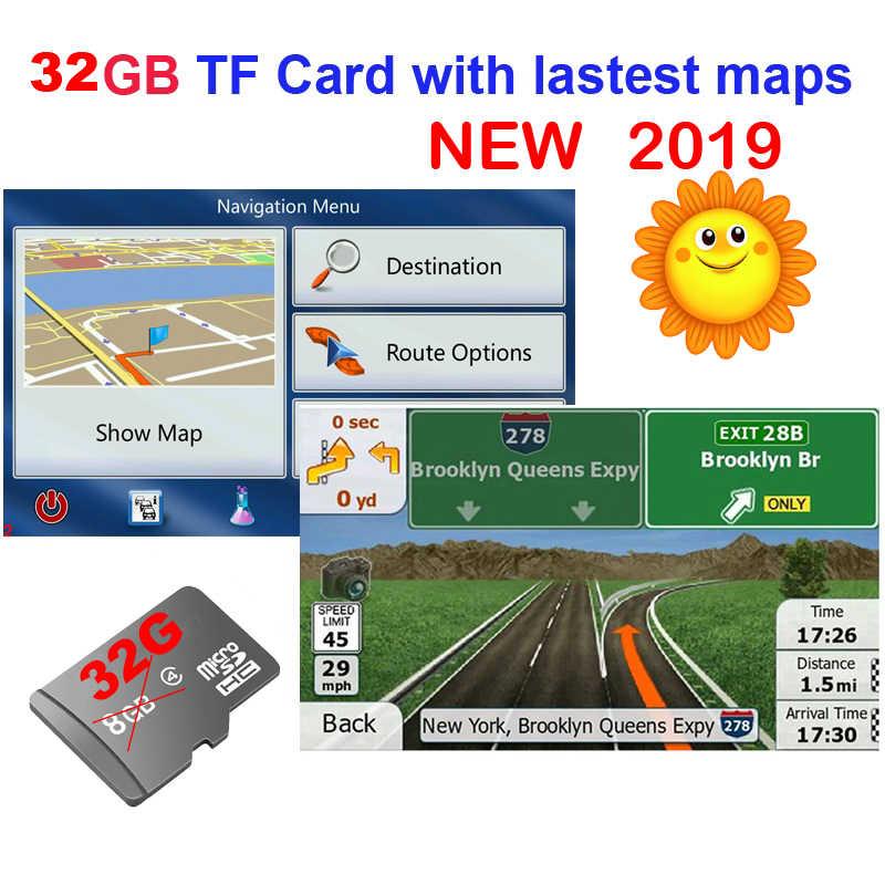 GPS aksesuarları 32G gps haritalar sd kart 2019 en son harita WinCE araba gps navigasyon haritası avrupa/rusya /abd/CA/AU/İsrail araba gps harita