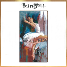 Selling hand-painted figure oil painting and dancing hand knife beautiful sexy girl in the on wall
