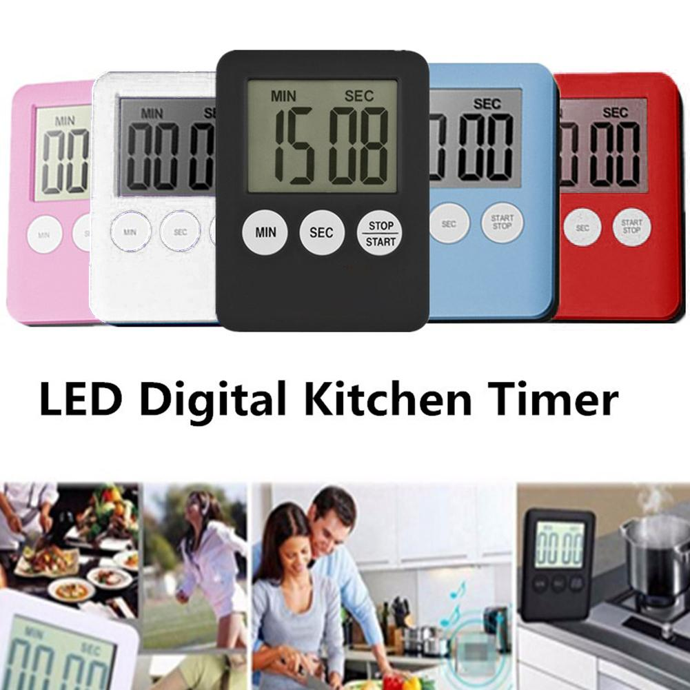 Durable Thin Cooking Digital Timer Kitchen Time Countdown Alarm Clock Baking Pizza Tool Easy To Use