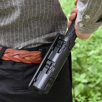 Universal 360 Degree Rotation Baton Case Holster Black Holder Self Defense Safety Outdoor Survival Kit EDC Tool 1