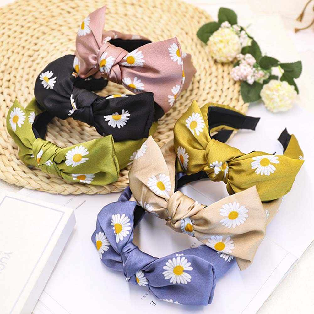 Fashion Daisy Flower Bowknot Hairband Headband Women Hair Hoop Hair Accessories