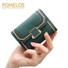POMELOS Card Holder Wallet Women NEW Fashion Credit Card Holder Authentic Cow Leather Small Card Holder Wallet Cover Open