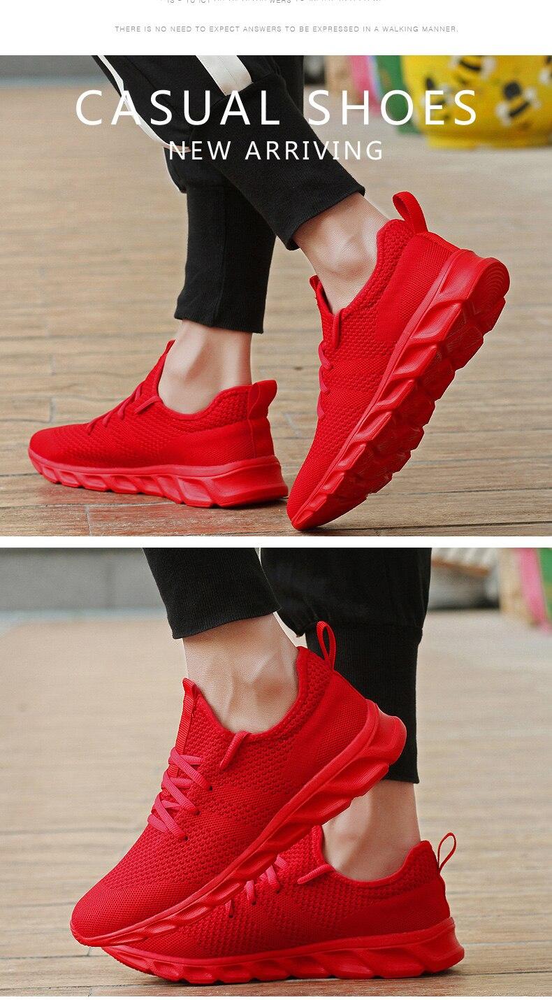 Flyknit Men Shoes Light Sneakers Men Breathable Jogging Shoes for Men Rubber Tenis Masculino Adulto Plus 35 46 48