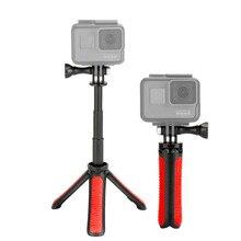 Erweiterbar Selfie Stick für Gopro 9 Schwarz Tragbare Vlog Selife Stick Stehen für Gopro Hero 9 8 7 6 5 4 Max DJI Osmo Action Kamera