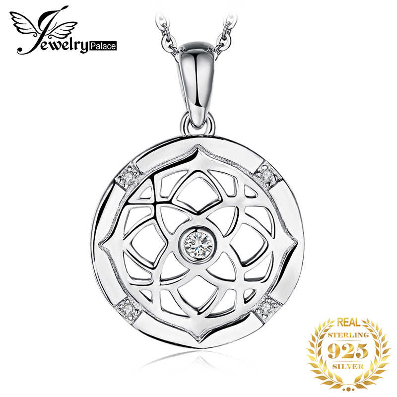 Irish Celtics Knot Silver Pendant Necklace 925 Sterling Silver Choker Statement Necklace Women Silver 925 Jewelry Without Chain