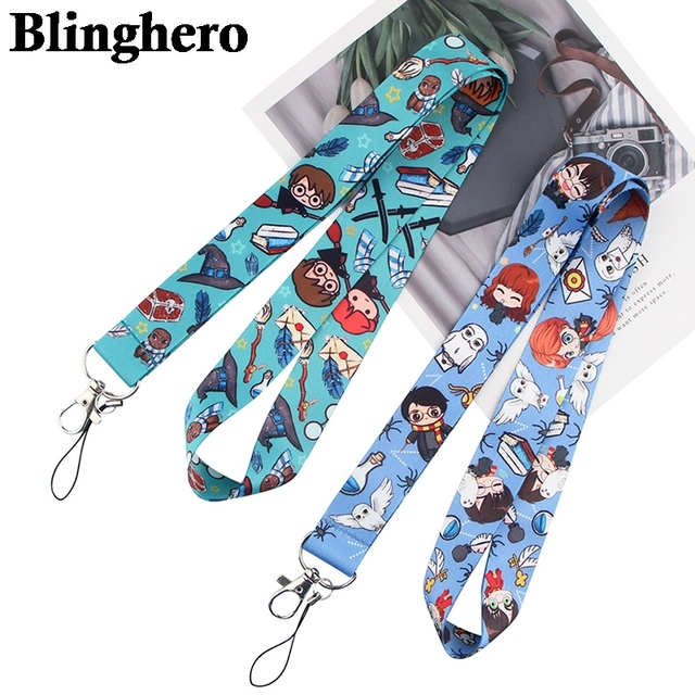 CA1353 Wholesale 20pcs/lot Magic Shcool Lanyard Mobile Phone Strap ID Card Badge Holder Rope Key Chain Keyrings Cosplay Webbing 2