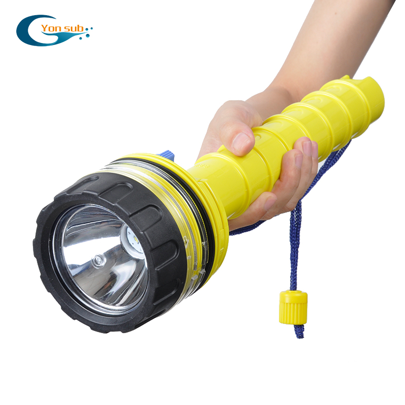 YONSUB Scuba Dive Flashlight Underwater Waterproof LED Diver Light Torch Spearfishing Led Diving Lamp