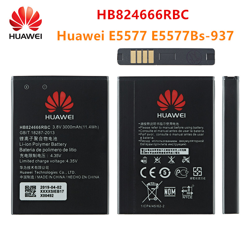 100% Orginal HB824666RBC Battery 3000mAh For Huawei Huawei E5577 E5577Bs-937 Mobile Phone HB824666RBC