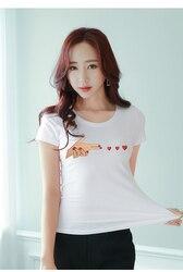 Женская свободная футболка Han edition, летняя футболка с коротким рукавом, 2019