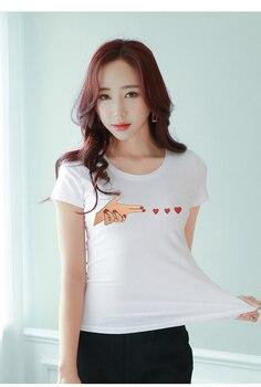 Han-ausgabe weibliche T-shirt lose halbe 2019 sommer kurzarm T-shirt