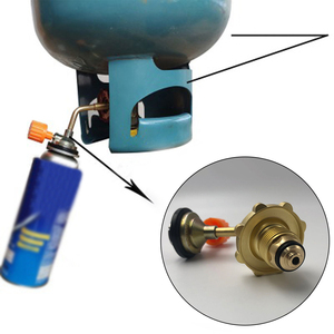 Odkryty Camping zbiornik skroplony nadmuchiwany Adapter zaworu na butan Cylinder wlew zbiornika paliwa Adapter zawór bezpieczne przełączanie US