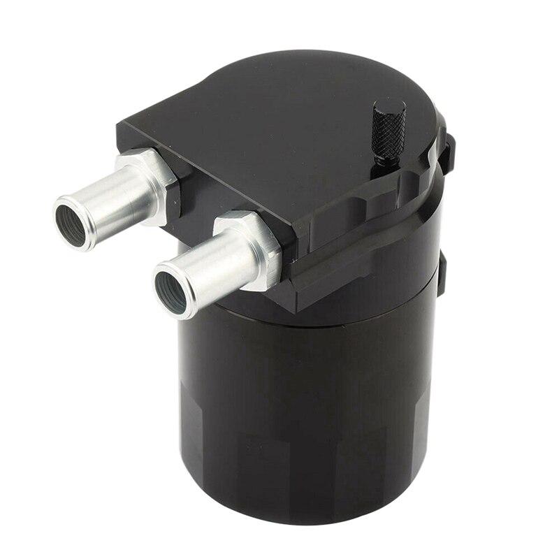 Universal Black Baffled Oil Catch Tank Can Car Racing Engine Reservoir Breather