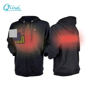 Image 1 - Dr. qiiwi גברים ונשים חיצוני מחומם הסווטשרט רך קל משקל חימום סלעית מעיל מעיל קר מזג אוויר מהיר חימום מערכת