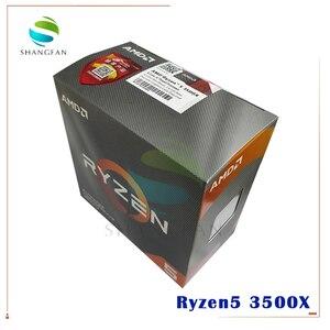 Image 2 - AMD Ryzen 5 3500X R5 3500X 3.6 GHz sześciordzeniowy sześciordzeniowy procesor CPU 7NM 65W L3 = 32M 100 000000158 gniazdo AM4 pochodzą z chłodnicą