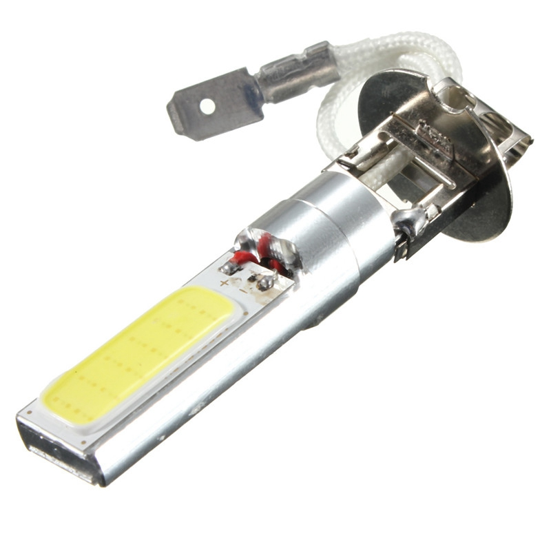 2 шт./лот H3 COB светодиодные автомобильные лампочки фара лампа для противотуманной фары источник света парковка 12V супер яркий белый 6000K