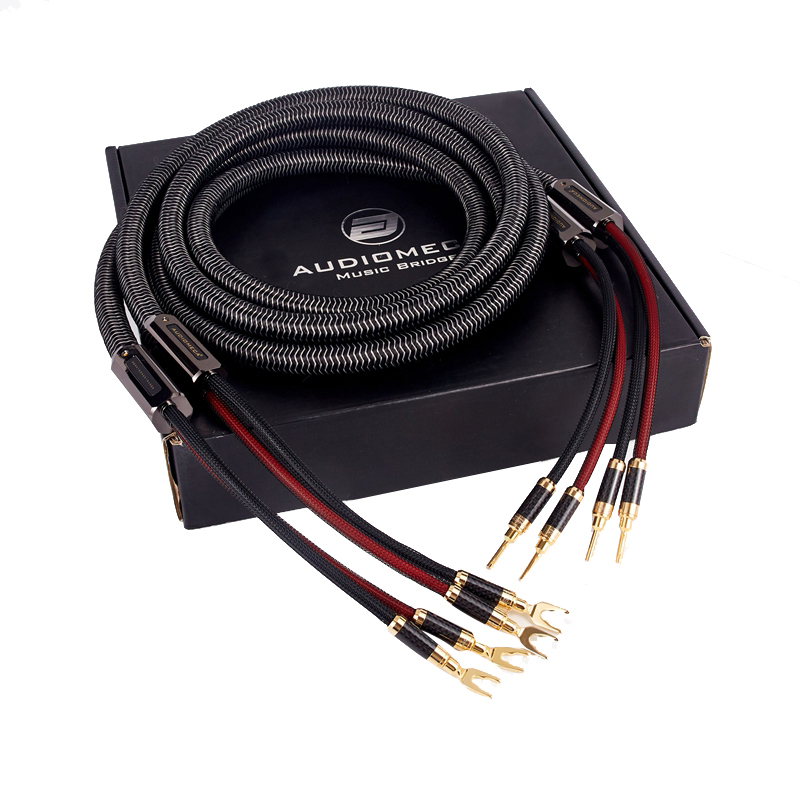AUDIOMECA Hifi Speaker Cable OFC Pure Copper Audio Connecting Cable