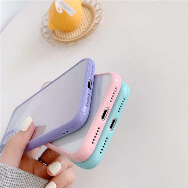 Funda For iphone 12 pro Case Luxury Clear Candy Phone Bumper Coque For iphone 11 Case For Women Men X XS Max XR 6 8 7 Plus Cover 4