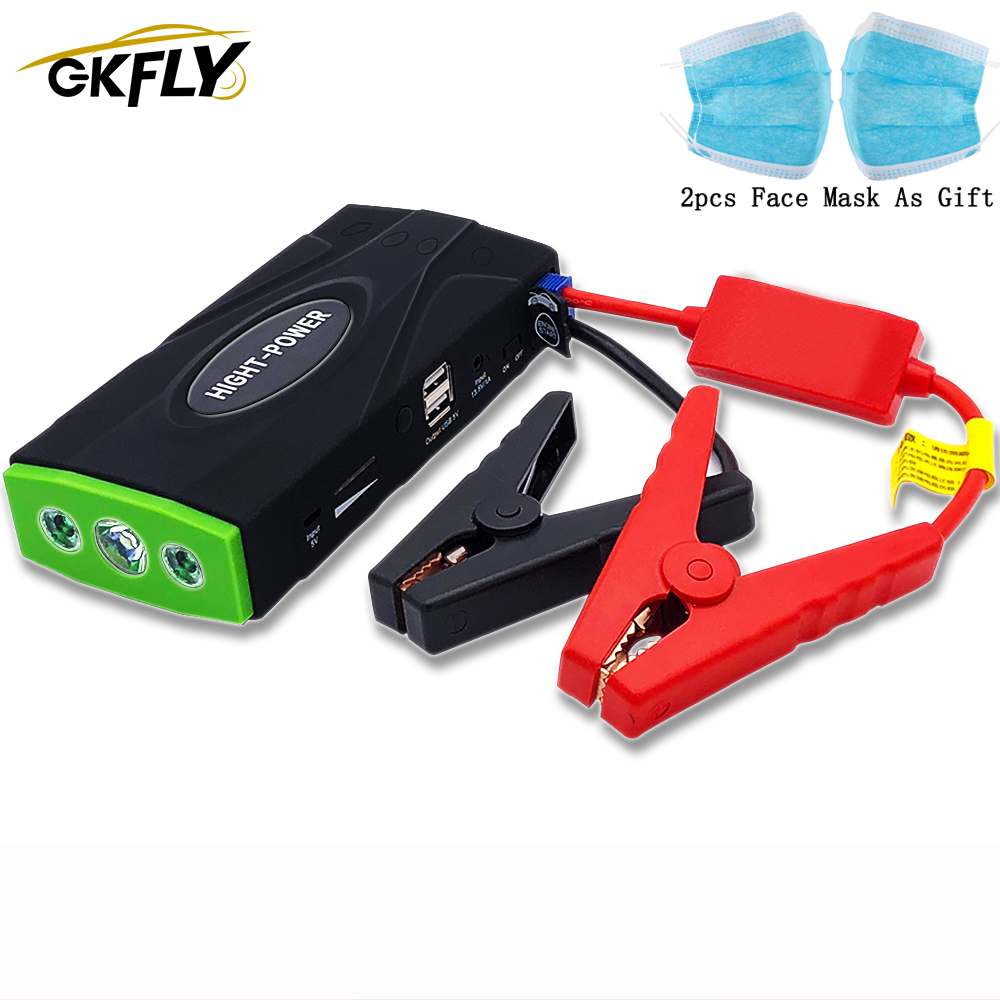 GKFLY High Power 600A 12V Starting Device Booster Car Jump Starter Power Bank Portable Car Starter For Car Battery Charger