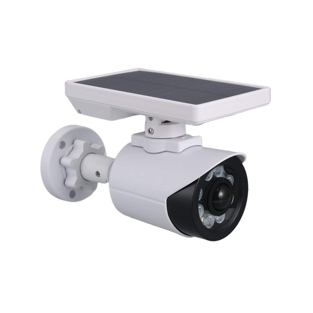 Solar Round Surveillance Camera Solar Panel Dummy Security Camera Home Simulation Surveillance Cameras|Solar Lamps| |  - title=