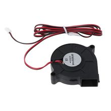 Black Cooling 12V DC 50mm Blow Radial Cooling Fan Hotend Extruder For 3D Printer 1PC 50x15mm turbo fan 3d printer part centrifugal fan dc 12v 24v blow radial cooling fan wire for hot end