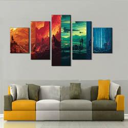 EBay AliExpress поперечная рамка 5-frame спрей-печать картина Ядро HD микро-струйный холст 5-рамка картина в стиле аниме Core декоративная Painti
