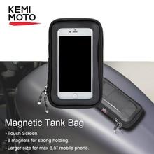 "KEMiMOTO мотоциклетные магнитные Сумки на бак 6,"" сенсорный экран сотовый телефон gps сумка для BMW R1200GS для Kawasaki для Sportster Touring"