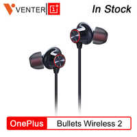 Original OnePlus Bullets Wireless 2 Earphones AptX Hybrid Magnetic Control Google Assistant Fast Charge For Oneplus 7 Pro