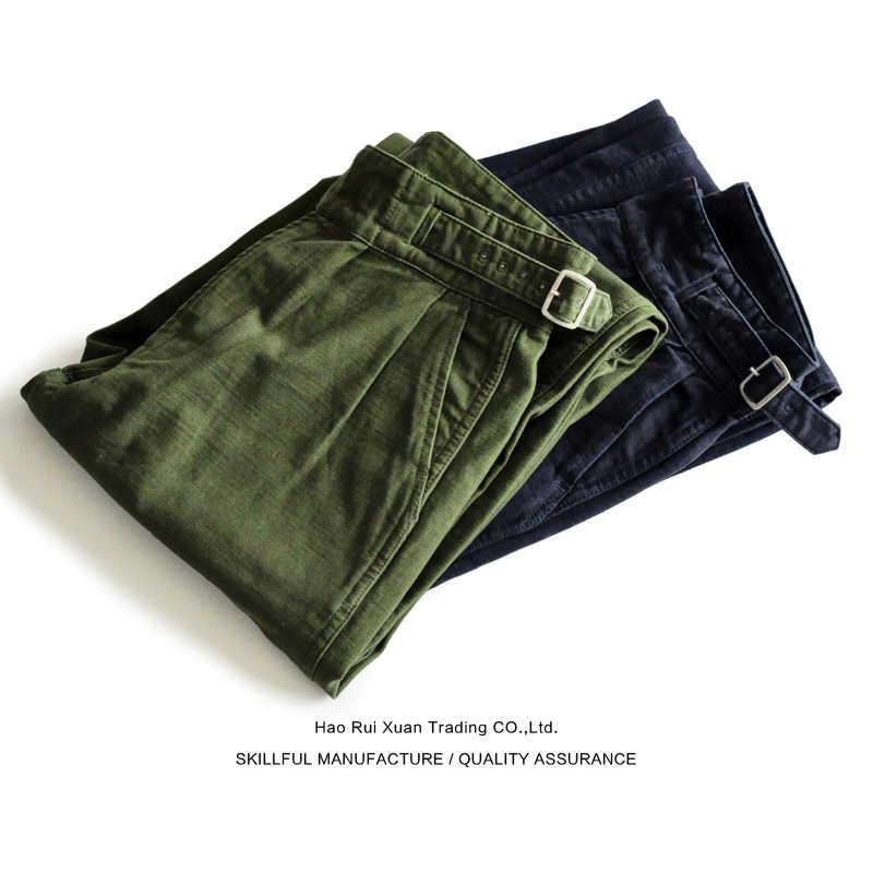 SauceZhan Gurkha Pants Army Pants OG-107 Fatigue Pants Classic Military Pants Olive Sateen Wide Leg Pants men pants casual pants
