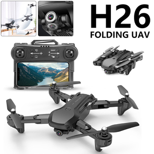 H26 RC Drone Optical Flow Positioning 4K HD Dual Camera Professional Aerial Photography Helicopter Foldable Quadcopter Toy