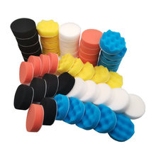 50pcs Car Polish Pad Kit 3inch Sponge Buffing Pads for Auto Care Polisher Foam Drill Automotive Waxing Polishing Sealing