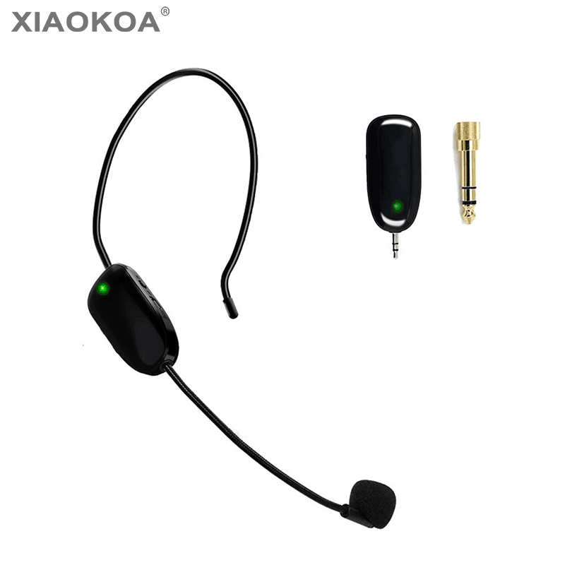 New 50m UHF Wireless Microphone Headset Handheld Microphone Frequency Changeable For Teacher Tour Guides Conference Mic XIAOKOA