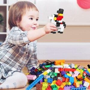 250-1500 stücke DIY Bausteine Groß City Kreative Klassische Bricks Montage Modell Figuren Kinder Pädagogisches Spielzeug für Kinder