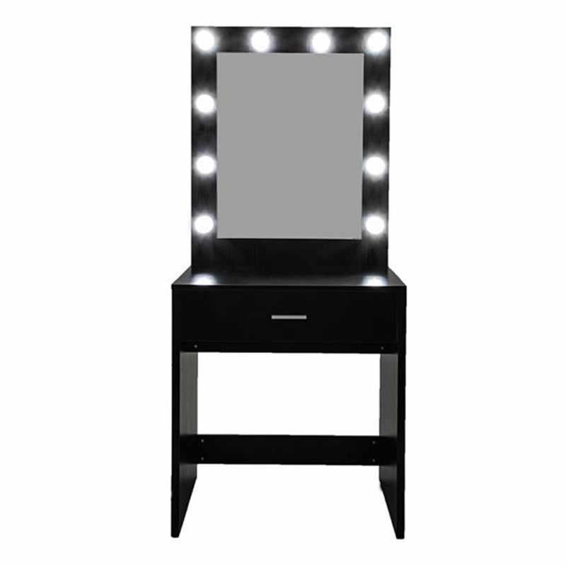 black vanity desk fch with a light cannon large mirror single drawer dressing table black dressing room bedroom furniture