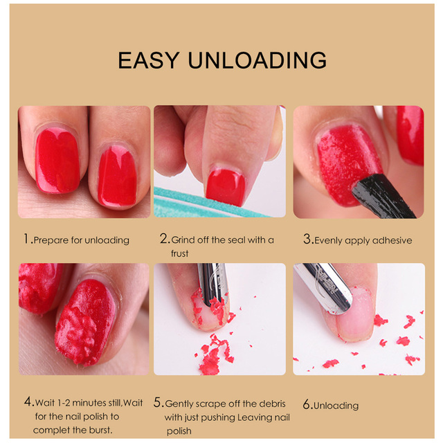 Gel Nail Magic Remover 15ml Nail Gel Remover Gel Soak Off Polish for Fast Healthy Nail Cleaner Gel  Nail Remover 5