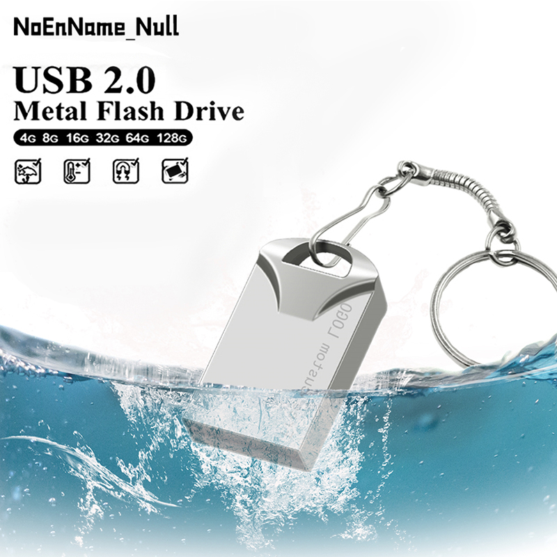 Super Mini USB Flash Drive 2.0 Pen Drive 32gb Metal Usb Stick 64gb Flash Disk Usb 128gb 16gb 8gb 4g Pendrive With Gift Free Logo