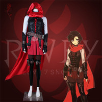 Anime Season 7 Cosplay Costume Ruby Rose Red Sexy Women Dress Halloween Christmas uniform