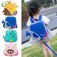 Baby Backpack 2-6 Yrs Bags Cartoon Animal Children's Schoolbag Snacks Toys Storage Bag Children's Room Decoration Backpack GYH