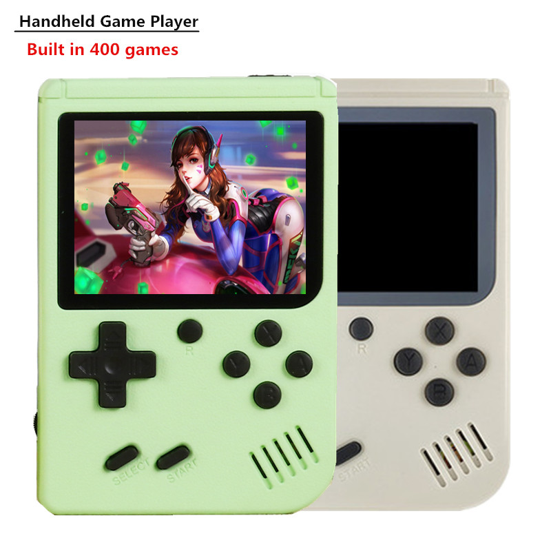 HUADARRE Video Game Console Built-in 400 Retro Classic Games 3.0 Inch Portable 8 Bit Handheld Gaming Player With Gamepads