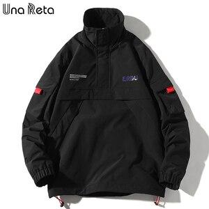 Image 5 - Una Reta Jackets Mens New Hip Hop Brand Thin Tracksuit Coat Fashion Casual Streetwear Man Pattern Stitching Baseball Jacket