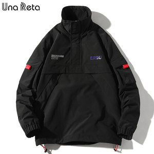 Image 5 - Una Reta veste de survêtement pour homme, de base ball, fine de marque Hip Hop, Streetwear, à la mode, décontracté