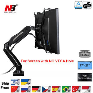 "NB F80 + FP-1 Extension for No VESA Hole 17-27"" LED Monitor Holder Arm Gas Spring Full"