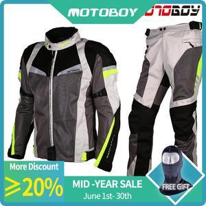 Новое поступление, летний сетчатый мотоциклетный костюм для мотоциклистов, вентиляция, защитная куртка и штаны
