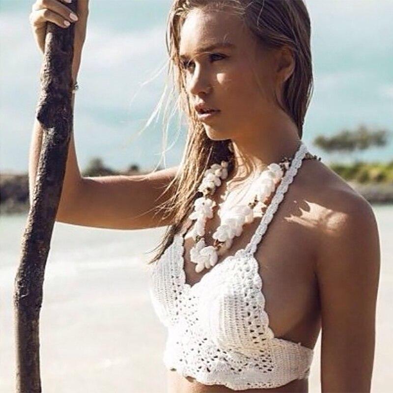 swimwear 2019 Knitted Bikini v-neck bathing suit sexy push-up high waist bikini women Beach Bathing Suit