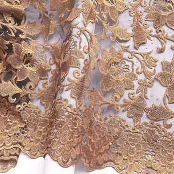 Africana de tela 2019 de encaje de alta calidad oro Red suiza con encaje tela 2020 piedras de lujo Nigeria francés tela de encaje para boda
