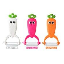 Vegetable Slicer Planer Kitchen Gadget Ceramic Peeler Plastic-Handle Melon Multifunction