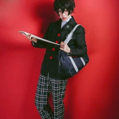 Anime Cosplay Persona 5 Cosplay Costume Akira Kurusu Ren Amamiya School Uniform For Unisex Coat Shirt Pants Full Set